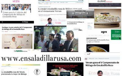 El Campeonato de Málaga de Ensaladilla Rusa como acontecimiento periodístico