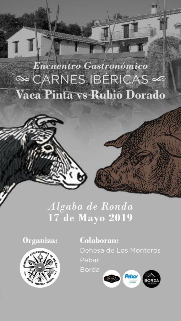 Cartel anunciador del duelo entre carnes ibéricas