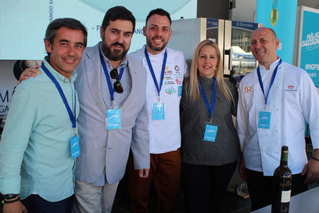 Los ponentes con Álvaro Muñoz